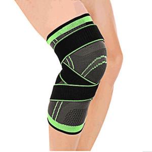 1 Pieza Mumián 3d presurizado aptitud Correr Ciclismo vendaje de rodilla Soporte tirantes elásticos de nylon Deportes compresión del cojín de la manga