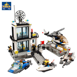 블록 해양 경찰서 퍼즐을 구축 어린이 장난감 고품질의 블록 장난감 소년과 소녀 모두를 조립