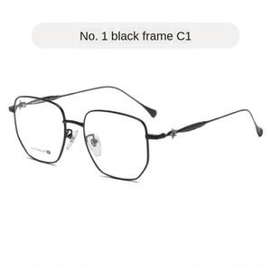 Longgang Glasses Glasses Huamu titanium big men's fashion pure fashion large frame ultra light eye frame new face women 1911 4QnB8