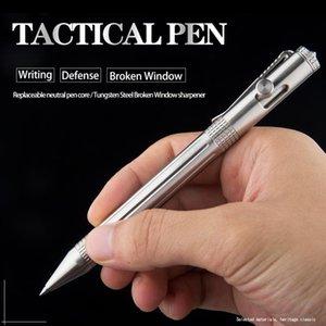 الدفاع المحمولة الفولاذ المقاوم للصدأ الشخصية التكتيكي القلم متعددة الوظائف كسر نافذة أداة القلم المنقذة للحياة