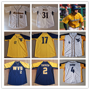 Özel Batı Virginia Mountainers Beyzbol Jersey Darius Hill Tyler Doanes Ivan Gonzalez Marques Inman Alek Manoah Kade Strowd Wvu Jersey