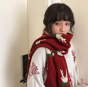 180x40cm Noel yetişkin Eşarp Kış% 100 erkek ve kadınlar Klasik Büyük Atkılar Moda Infinity Eşarp yeşil kırmızı