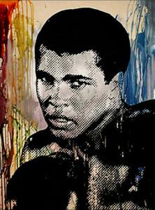 Mr Brainwash Banksy Graffiti art Muhammad Ali Wall Decor Handpainted &HD Print Oil Painting On Canvas Wall Art Canvas Pictures 200818