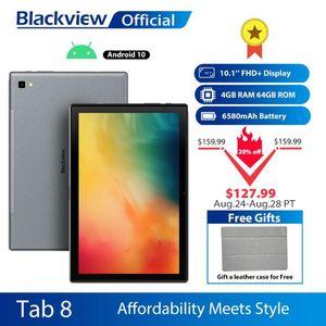 Blackview Tab 8 10.1 polegadas Android 10,0 Google Play 4G Phone Call Tablets 4GB RAM 64GB ROM 13.0MP câmera traseira 6580mAh Tablet PC