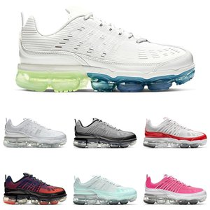 Nike Air VaporMax 360 hommes de femmes coussin chaussures de course Bubble Pack White Metallic Silver Blue Void mens magique Ember Photon poussière formateur chaussures de sport