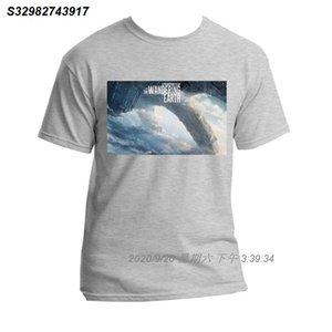 Mens Sports e T-shirt Lazer T-shirt Impresso Terra Wandering Fiction Mens Ciência Filme Wandering Terra T-shirt 530279
