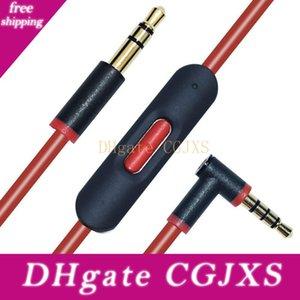 Substituição Headphone cabo com microfone para 2 .0 áudio remoto Discussão Cords banhado a ouro para o iPhone Versão