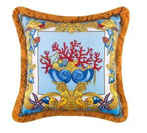 50CM Mudusa fronha barroco de luxo Designer Velvet Thicken Tassel decorativa Almofadas Real Almofadas Vintage Covers Interiores