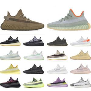 De calidad superior Kanye West Hombres Mujeres zapatos para correr Yecheil Yeezreel hiperespacio Lundmark Antlia estático reflectante cebra Israfil Oreo lino
