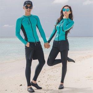 buceo cremallera deportes al aire libre al aire libre del vientre que cubre Diving 5 pieza juego de los deportes de adelgazamiento de manga larga de natación protector solar surf Traje nuevo RmDYX