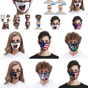 Layer Mask Imprimer Foral Double Face antipoussière Anti-Uv Masques Designer Mode Femmes Hommes Mout OAIC XCZJ