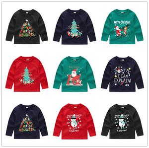 Sweat à capuche pour enfants Blouses de Noël Garçons Filles Sweat Sequin Cartoon Pull à manches longues T-shirt ras du cou Pullovers Tops Vêtements E92403