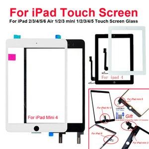 Para el iPad 1/2/3 2/3/4/5/6 Aire Mini 1/2/3/4/5 asamblea de pantalla táctil digitalizador pantalla de cristal del reemplazo de la lente de cristal al por mayor del panel exterior