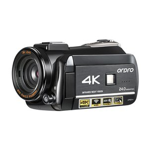 ORDRO Videokamera 4k Camcorder Full HD IR Nachtsicht Ordro AC3 30X Digitalzoom Vlog-Kamera für YouTube Videos