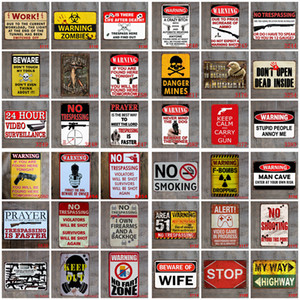Panneau en métal peinture peinture rétro plaque murale signe art autocollant de fer peinture maison domestique décoration panneaux panneaux de décoration murale prise en charge personnaliser y