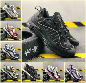 2020 Nueva AIRE invicto Ultra 98 de los zapatos corrientes bala de plata de oro blanco Hombres Mujeres barato OG 98s Gundam zapatillas de deporte diseñador Deportes TN Chaussures