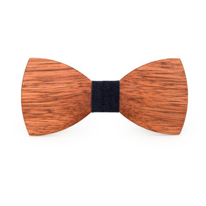 Novelty Wooden Bow Tie Shirt Krawatte Bowknots Slim Tie Wedding Suit Accessories Carvat Party for Men Wood Ties Wooden Bowties
