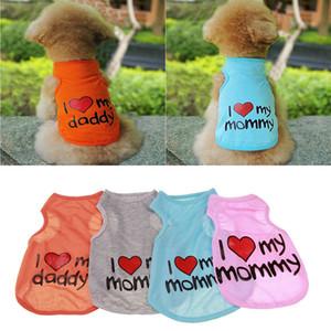 Новый питомец собака жилет щенок кошки хлопка одежды кота жилет щенка чихуахуа Я люблю свою маму одежды собаки ж-00147 ш-00147