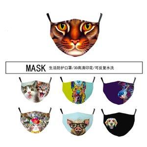 3D máscara filtro embutido bolso de três camadas de impressão full buy rápida
