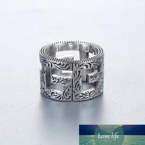 Классический Известные Пара Кольца Известный Стиль Blind For Love 925 стерлингового серебра кольца перста цветка сердца кольца любовника ювелирных изделий венчания высокого ранга