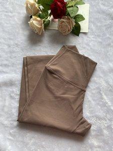 Desnudo de cintura alta pantalones ajustados de yoga Fitness Elastic estrechez energética gimnasio desgaste del entrenamiento Correr polainas 4 vías se extienden Tight