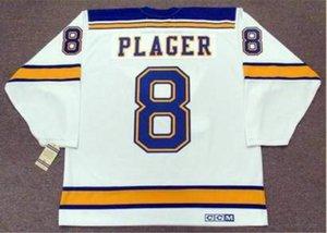 las mujeres de Hombres jóvenes Vintage # 8 Barclay Plager St. Louis Blues Hockey Jersey del tamaño S-5XL o costumbre cualquier nombre o un número