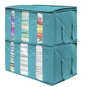 Нетканые складная коробка хранения Портативный одежды Организатор Tidy мешок Чемодан Home Box хранения большой емкости Дом Accessoriese DWA742