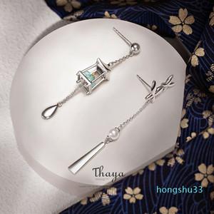 Горячие продажи Тайя Подлинная 925 стерлингового серебра кисточки Зеленый Фонарь серьги Eardrop Изысканный серьги мотаться для женщин Luxury Fine Jewelry