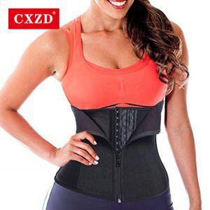 CXZD المرأة الخصر المدرب مشد Cincher حزام التخسيس الجسم المشكل Shapewear نمذجة الشريط تحكم البطن