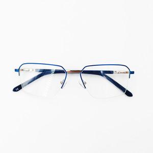 النظارات إطار الرجال نصف إطار عالي الجودة بقية مصمم سبيكة العلامة التجارية مريحة سيليكون الأنف في مختلف الألوان