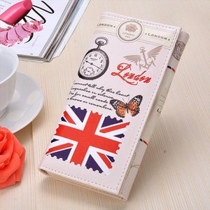 Hot Sale 11 Colors Women Long Wallet PU leather Paris Flags Eiffel Tower Style Lady Coin Purses Clutch Wallets Money Bags B2