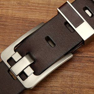 Cross-Border New Foreign Trade Men Waistband Pin Buckle Leather Leather Belt Retro Casual Factory Direct Sales One Piece Dropshipping