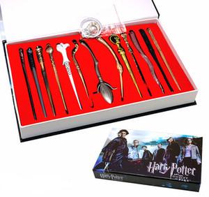 13PCS / Set Harry Botter bacchetta magica Cosplay scuola di Hogwarts Hermione Silente Sirius Voldemort Fleur bacchetta magica Bonus per regalo bambini