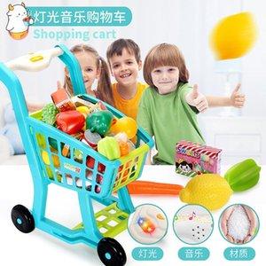 Eğitim Kesme Alışveriş Plastik Pretend Set Play House Simülasyon Oyuncak Sepeti Kız Meyve Gıda Mini Sebze Mutfak Oyuncaklar UQPWO