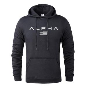 Sıcak Satış Sonbahar Ve Kış Marka Aktif Mantolar Erkek Yüksek Kalite Harf Baskı Mektupları Giyim Erkek Spor Kapüşonlular ile M-XXXL
