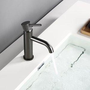 Bagnolux Moderne Tap Einhand Einlochmontage Waschbecken Wasserhahn Hotels Gunmetal-Toilette-Bassin-Hahn-Wannen-Mischer-Hähne
