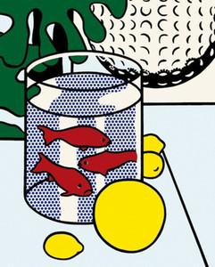 Roy Lichtenstein Natura morta con pesci rossi per la casa Artigianato / HD Stampa della pittura a olio su tela di canapa di arte della parete della tela di canapa Immagini 200818