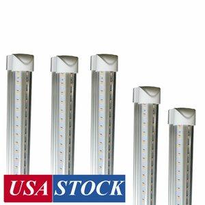 8 pés tubo de luzes LED em forma de V 8 pés loja de design luzes LED luminária dois pés 3 pés 4 pés 5 pés 6 pés refrigerador porta do congelador iluminação lâmpadas fluorescentes
