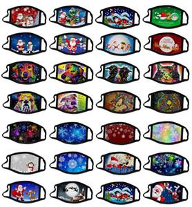 3D yüz maskesi toz geçirmez Baskı Polyester Maske Boyama 2020 Yeni Noel yüz maskesi fahion yüz maskeleri kar tanesi Hayvan Yağı
