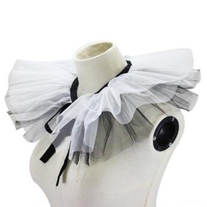 Schwarz und Gaze Garn Palace dekorativer Schwarzweiss-Gaze Weiß Garn gefälschte Palace gefälschte Kragen dekorative Kragen