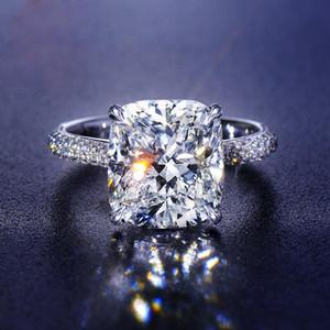 Real S925 Sterling Silver 2 Караты Муассанит с бриллиантом кольцо для женщин Fine Anillos Mujer Серебро 925 ювелирных изделий Bizuteria колец
