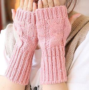 2020 stile coreano nuova moda di lana a maglia di lana mezze dita Wristband guanti guanti di lana dito aperto braccialetto necessità quotidiane