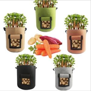 Bitki Yetiştirme Çanta Domates Patates Grow adındaki Çanta Dokuma Havalandırma Bitki Pot Sebzeler Çanta Saksı Ev Bahçe Dikim Aksesuarları LSK822