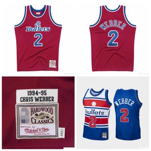 MännerWashingtonBullets Chris Webber Mitchell & Ness Nostalgia Company 1994-1995 1996-1997 Hard Classics authentisches Jersey