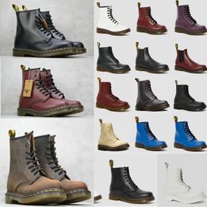 Martins Botas zapatos de cuero negro completa Martens 1460 Nappa clásicos de cuero suave Martin botas de los hombres y las botas de las mujeres 7hm2 #