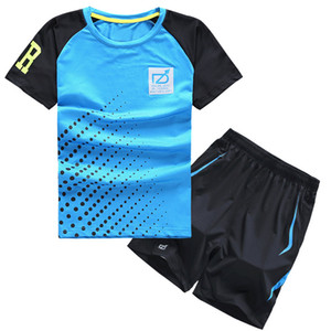 Kids summer suit Teenage sports clothing set boys fast dry clothing T-shirt and short pants for 4 6 8 10 12 Years X0923