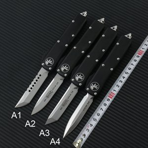 Высокое качество Microtech UTX85 Ultratech UTX85 UTX85 UTX70 UTX70 нож D2 лезвие Т6 алюминий (ЧПУ) Ручка Открытого кемпинг Ножи EDC инструмента