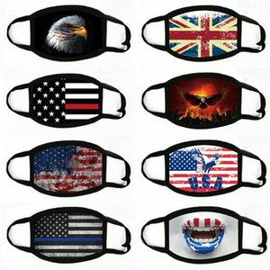 Flag Civilian Washable Printing Mask Industrial Dustproof And Haze Proof Mask Replaceable Element Masks Adjust Face Shield#505