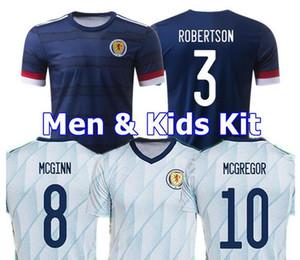 Fußball Jerseys New Scotland 2020 2021 ROBERTSON FRASER Fußballhemd Satz NAISMITH MCGREGOR CHRISTIE FORREST McGinn Herren Kinder zu Hause weg unifo
