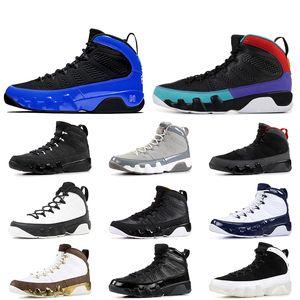 2019 Nova Retro 9s tênis de basquete para o homem Racer Blue Dream Do It UNC Space Jam OREGON PATOS ESTÁTUA NakeskinJordâniasapato Retros